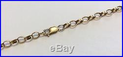 Superb Quality Full Hallmarked Vintage 9Ct Gold Belcher Chain 20 Inch Must See