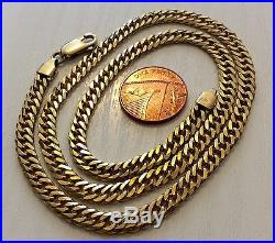 Superb Quality Full Hallmarked Vintage Solid Heavy 9ct Gold Chain 9ct Neck Chain