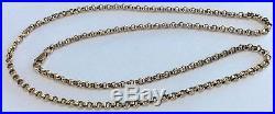Superb Quality (Heavy Circular Link) Hallmarked Vintage 9Ct Gold Neck Chain