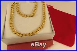 Superb Rich Colour HEAVY 22 9ct Gold CURB CHAIN 40gr Hm 7mm RRP£2000 cx16