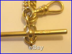 Superb Solid 9ct Gold Double Albert Graduated Albert Chain 34 Grams