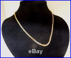 Superb Sparkling Solid 9ct Gold 18 BOX Chain Necklace 18gr 3mm cx718 RRP £915