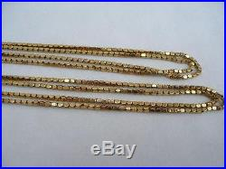 Superb Victorian 9ct Gold Guard Chain 19.5 grams & 54 Inches Long