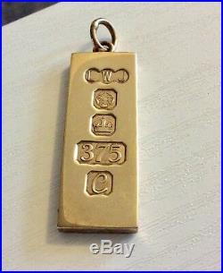 Superb Vintage 1977 Queens Jubilee Solid Gold 9CT Heavy 1oz Ingot Bar