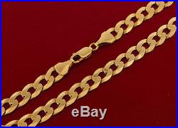 UK Hallmarked 9 ct Gold Curb Chain 20 30.5G RRP £1105 BXQ4
