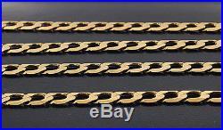 UK Hallmarked 9 ct Gold Heavy Italian Curb Chain 22.5 RRP £725 BRM17