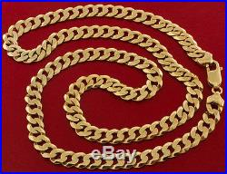 UK Hallmarked 9 ct Gold Solid Curb Chain 24.5 46.8 G RRP £1645 BXF1
