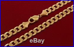 UK Hallmarked 9 ct Gold Solid Italian Curb Chain 20 48.5 G RRP £1705 BWY13