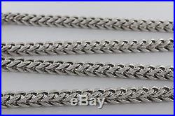 UK Hallmarked 9ct Gold Foxtail Chain 30 RRP £1675 UX2