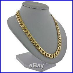 UK Hallmarked 9ct Gold Heavy Bevelled Edge Curb Chain 58g RRP £2215 (IJ2)