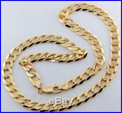 UK Hallmarked 9ct Gold Heavy Italian Curb Chain 20.5 48.1 G £1835 (BG13)