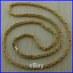 UK Hallmarked 9ct Gold Italian Byzantine Chain 16 -4mm 16g RRP £615 (I6 16)