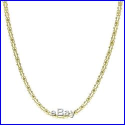 UK Hallmarked 9ct Gold Italian Cage Chain 26 7.5mm 34g RRP £1370(I12 26)
