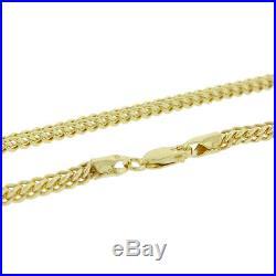 UK Hallmarked 9ct Gold Italian Franco Chain 24 3mm 10g RRP £465 (I1 24)
