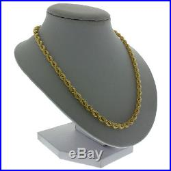 UK Hallmarked 9ct Gold Italian Rope Chain 20 8g 4.5mm RRP £330 (I11 20)