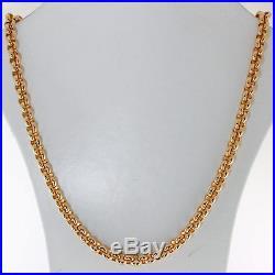 UK Hallmarked 9ct Gold Solid Belcher Chain 22.5 64.5 G RRP £2450 (BN18)