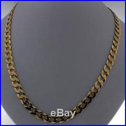 UK Hallmarked 9ct Gold Solid Heavy Italian Curb Chain 20 30.5G RRP £1105 XQ4
