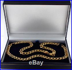 UK Hallmarked Classic 9ct Gold Heavy Curb Chain 54.3 G 23.5 RRP £2070 (AV9)