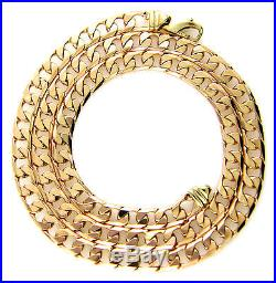 UK Hallmarked Heavy Solid 9ct Gold Mens Ladies Curb Link Chain Necklace 20.5
