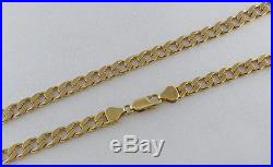 UK Hallmarked Solid 9ct Gold Curb Chain 20 RRP £1365 WZ9