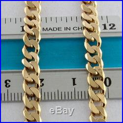 UK Hallmarked Solid 9ct Gold Curb Chain 21 RRP £925 WZ15