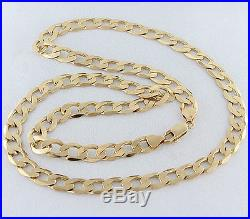 UK Hallmarked Solid 9ct Gold Italian Curb Chain 22.5 RRP £1280 (UJ23)