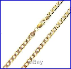 UK Hallmarked Solid 9ct Gold Mens Ladies Curb Link Chain Necklace 20