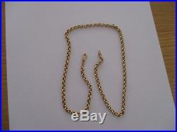 Unisex 9ct Gold Belcher Chain Necklace
