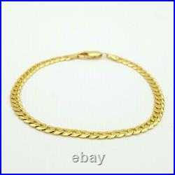Unisex Bracelet 9ct (375,9K) Yellow Gold Curb Chain Bracelet