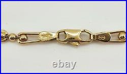 Unoaerre 1AR Italian 9ct Gold Fancy Link Designer Necklace Chain. NICE1