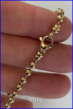 Unusual Ball Linked Strong 9ct Gold Bracelet 7.8 Grammes