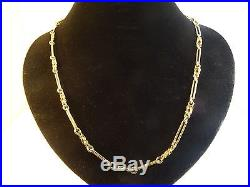 Unusual Long Solid 9ct Gold Fancy CHAIN NECKLACE 24 25gr Hm Gift cx334 RRP1250