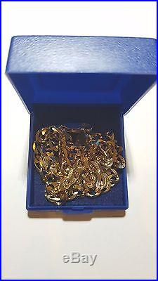Used 375 / 9ct Gold Chain, Weight 16.2 Grams, 22 Inches, Excellent Condition