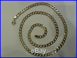 Used 375 / 9ct Gold Chain, Weight 27.5 Grams, Excellent Condition Sg0585