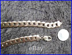 VERY HEAVY 9ct GOLD HALLMARKED 22 INCH SOILID GOLD CURB CHAIN 91 GRAMS