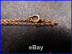 VICTORIAN 9ct GOLD MINE CUT DIAMONDS 33 CT VSG LAVALIERE ESTATE NECKLACE CHARM