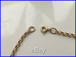VINTAGE 375 9CT GOLD BELCHER LINK CHAIN NECKLACE 20.5 inches 7.43g