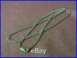 Vintage 9ct Gold Flat Link Chain