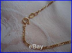 VINTAGE 9ct GOLD 9 CT 375 CHAIN BRACELET 20 CM Long