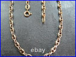 VINTAGE 9ct GOLD ANCHOR LINK NECKLACE CHAIN 19 1/2 inch 1977