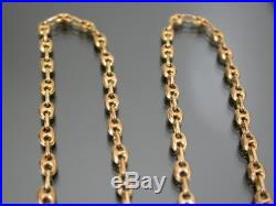 VINTAGE 9ct GOLD ANCHOR NECKLACE CHAIN 19 inch 1989