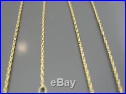 VINTAGE 9ct GOLD BARLEYCORN LINK NECKLACE CHAIN 18 inch 1996