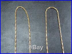 VINTAGE 9ct GOLD BARLEYCORN LINK NECKLACE CHAIN 20 inch C. 1990