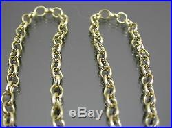VINTAGE 9ct GOLD BELCHER LINK NECKLACE CHAIN 16 inch C. 1980