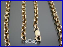 VINTAGE 9ct GOLD BELCHER LINK NECKLACE CHAIN 19 inch C. 1990
