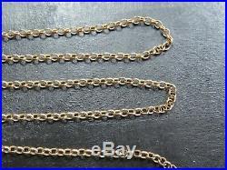 VINTAGE 9ct GOLD BELCHER LINK NECKLACE CHAIN 20 1/2 inch 1986