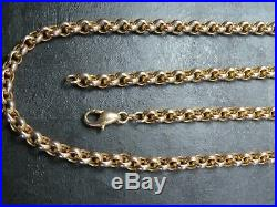 VINTAGE 9ct GOLD BELCHER LINK NECKLACE CHAIN 24 inch 1992