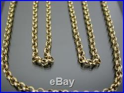 VINTAGE 9ct GOLD BELCHER LINK NECKLACE CHAIN 28 inch 2001