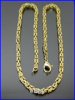 VINTAGE 9ct GOLD BIRDCAGE LINK NECKLACE CHAIN 16 inch 1987