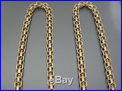 VINTAGE 9ct GOLD BISMARCK LINK NECKLACE CHAIN 21 inch C. 1980